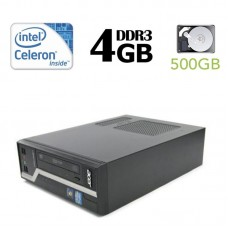 ACER Veriton X2611G, Intel G1610 2.8GHZ, 4GB DDR3, 500GB HDD, DVD - WIN 7 Pro