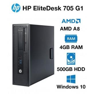 HP ELITEDESK 705 G1 SFF AMD A8-7600B/4GB/500GB/DVDRW - WIN10 Home
