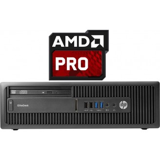 HP ELITEDESK 705 G1 SFF AMD A8-7600B/4GB/500GB/DVDRW - WIN 7 Pro