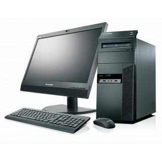"Gaming PC SET -  LENOVO M91P, Intel i5, 16GB DDR3, 180 SSD HDD + 500GB HDD, 2GB VGA, DVDRW - WIN 10 HOME + Οθόνη 19"" + Πληκτ/γιο, Mouse, Ηχεία"
