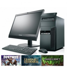 "Gaming PC SET -  LENOVO M91P, Intel i5, 8GB DDR3, 500GB HDD, 2GB VGA, DVDRW - WIN 10 HOME + Οθόνη 19"" + Πληκτ/γιο, Mouse, Ηχεία"