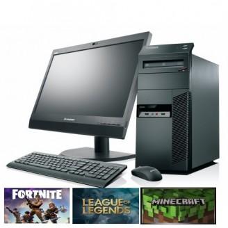 "Gaming PC SET -  LENOVO M91P, Intel i5, 8GB DDR3, 500GB HDD, 2GB VGA, DVDRW - WIN 10 HOME + Οθόνη 19"" + Πληκτ/γιο, Mouse, Ηχεία"