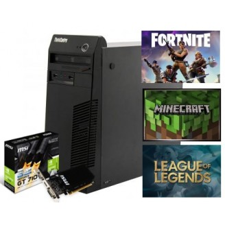 Gaming PC LENOVO ThinkCentre M72E/M82, Intel i5 3470 3.6GHZ, 8GB DDR3, 2GB VGA, 500GB HDD, DVDRW, Mini Tower - Win 7 Pro