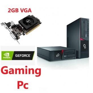 Gaming PC Fujitsu Esprimo E710 E90+, INTEL i5 3470 3.6 GHz, 8GB DDR3, 2Gb VGA, 120GB SSD + 500 GB HDD DVD-RW, Win 10 Home