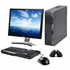"""PC SET - Fujitsu Esprimo E7935 SFF, Intel Core 2 Duo, 4GB DDR3, 160GB, WIN 10 HOME + Οθόνη 19"""" + Πληκτ/γιο, Mouse, Ηχεία"""